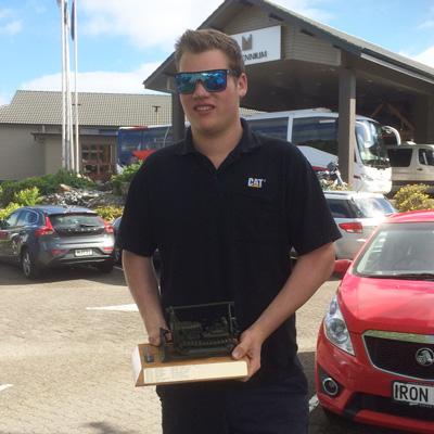 Hamish with the Stewart Marsden Award